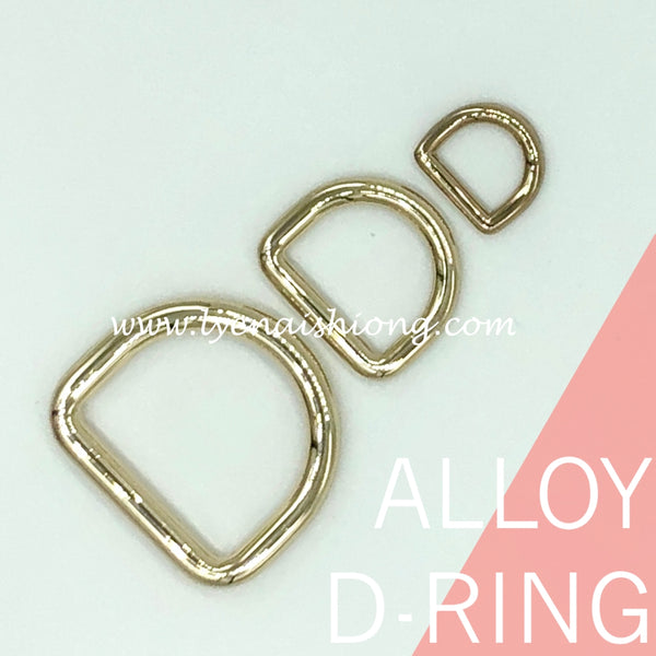 Gold Alloy D-Ring (Nickel-Free)
