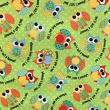 Babyville Boutique PUL Fabric - Playful Friends Owls (YARD)