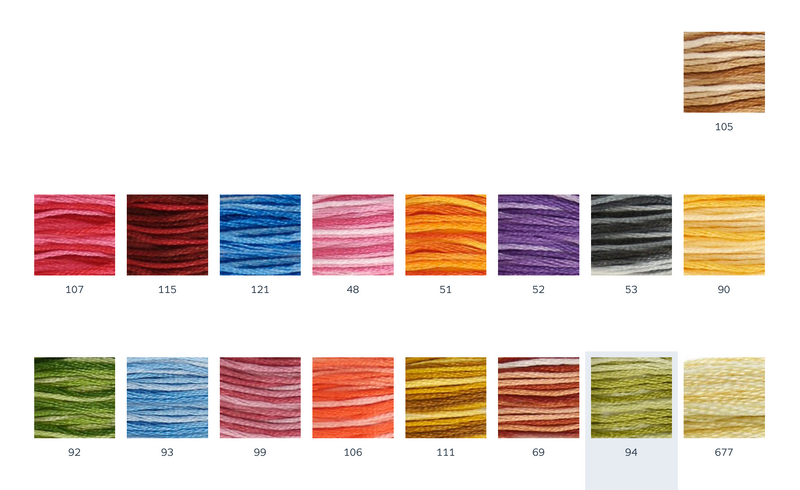 DMC ART 117 Multi-coloured Cotton Embroidery Floss