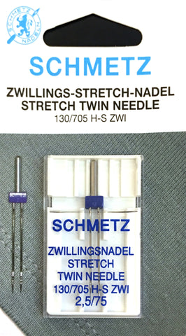 Schmetz 130/705 H-S ZWI Stretch Twin Sewing Needles $5.50 130/705, HAx1, Sale, Schmetz, sewing machine, sewing machine needles Lye Nai Shiong