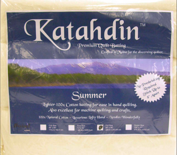 Bosal Katahdin Premium 100% Cotton Batting - Summer weight