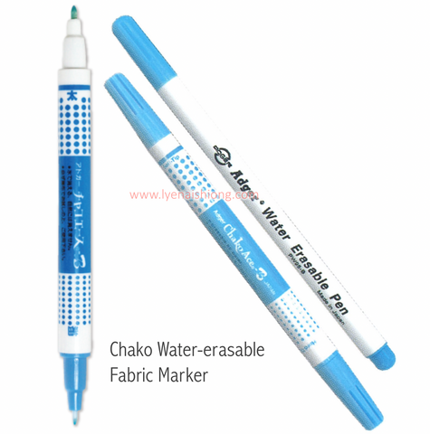 Water soluble fabric marking  pen