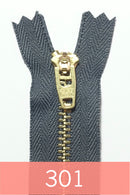 YKK Metal Zipper Gold 06IN