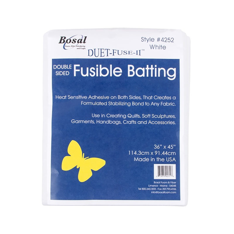 Bosal 4252 Duet Fuse II Double-side Fusible Batting 45in x 36in