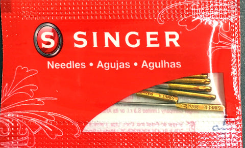 Singer 2045 Domestic Sewing Machine Needle $5.00 15x1, ball-point, gold, HAx1, knit, Sale, Singer sewing machine needles Lye Nai Shiong