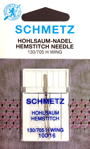 Schmetz 130/705 H-Wing Wing Needle 100/16 $3.50 130/705, HAx1, Sale, Schmetz, sewing machine, sewing machine needles Lye Nai Shiong