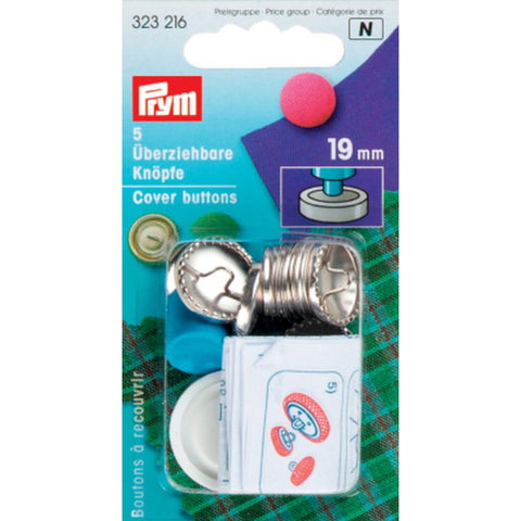 PRYM Brass Cover Buttons with Tool