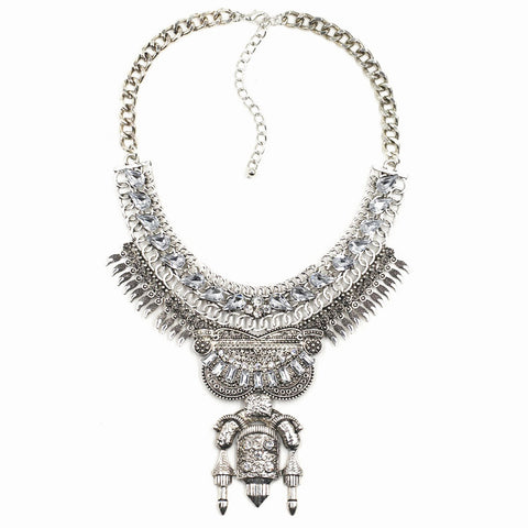 Piccadilly Silver Statement Necklace | AURA