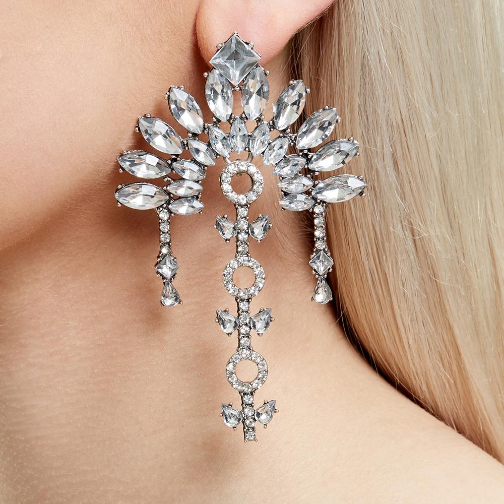 BELGRAVIA STATEMENT EARRINGS - SILVER