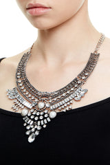 BOND STREET STATEMENT NECKLACE - SILVER