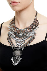 BURLINGTON STATEMENT NECKLACE - GUNMETAL