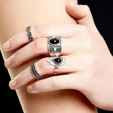 CAMDEN STATEMENT RING - SILVER