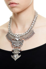 DALSTON STATEMENT NECKLACE - SILVER