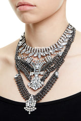 CHELSEA STATEMENT NECKLACE - SILVER