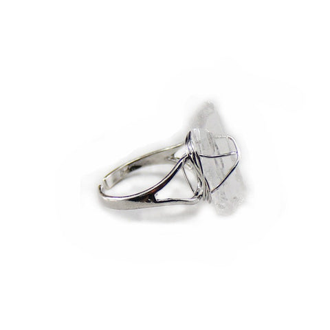 Kingly st crystal silver statement ring | AURA