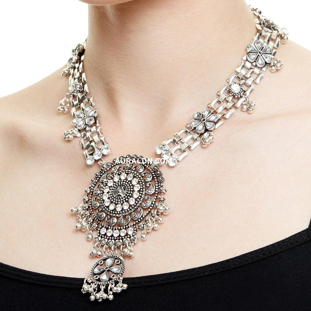 FINSBURY STATEMENT NECKLACE - SILVER