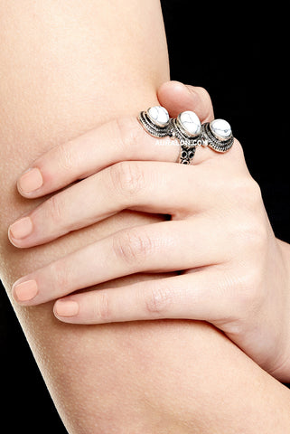 GREEN PARK STATEMENT RING - SILVER