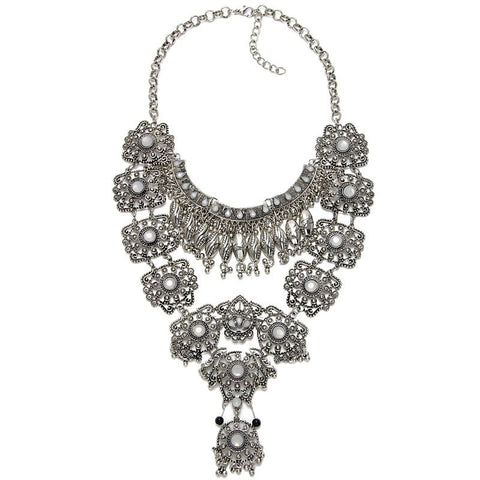 Fitzrovia Silver Statement Necklace | AURA