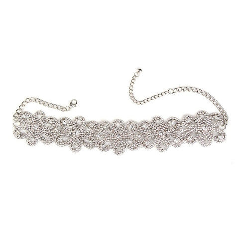 WEST END SILVER FLORAL CHOKER