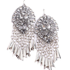 mayfair silver statement earrings | AURA