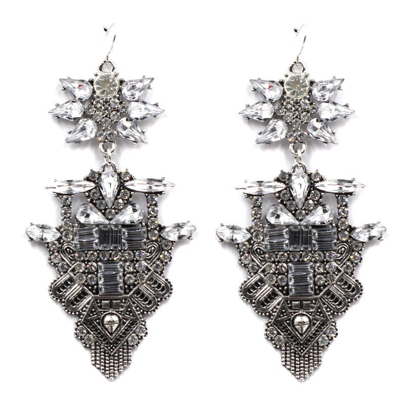 Knightsbridge silver statement earrings | AURA