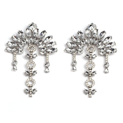 Belgravia silver gems statement earrings | AURA