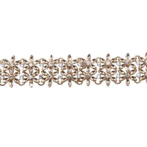 KINGS RD GOLD DIAMANTE CHOKER
