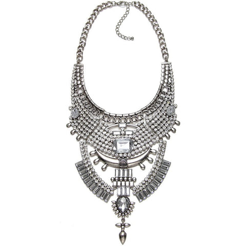 Marylebone Silver Statement Necklace | AURA