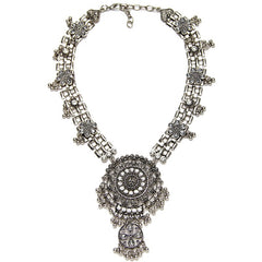 Finsbury Silver Statement Necklace | AURA