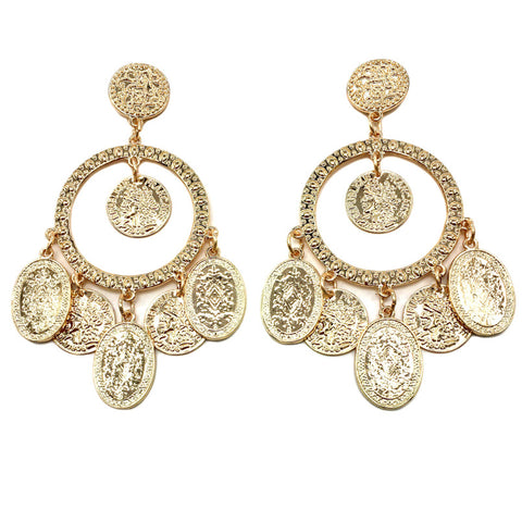 FLEET STREET GOLD EARRINGS