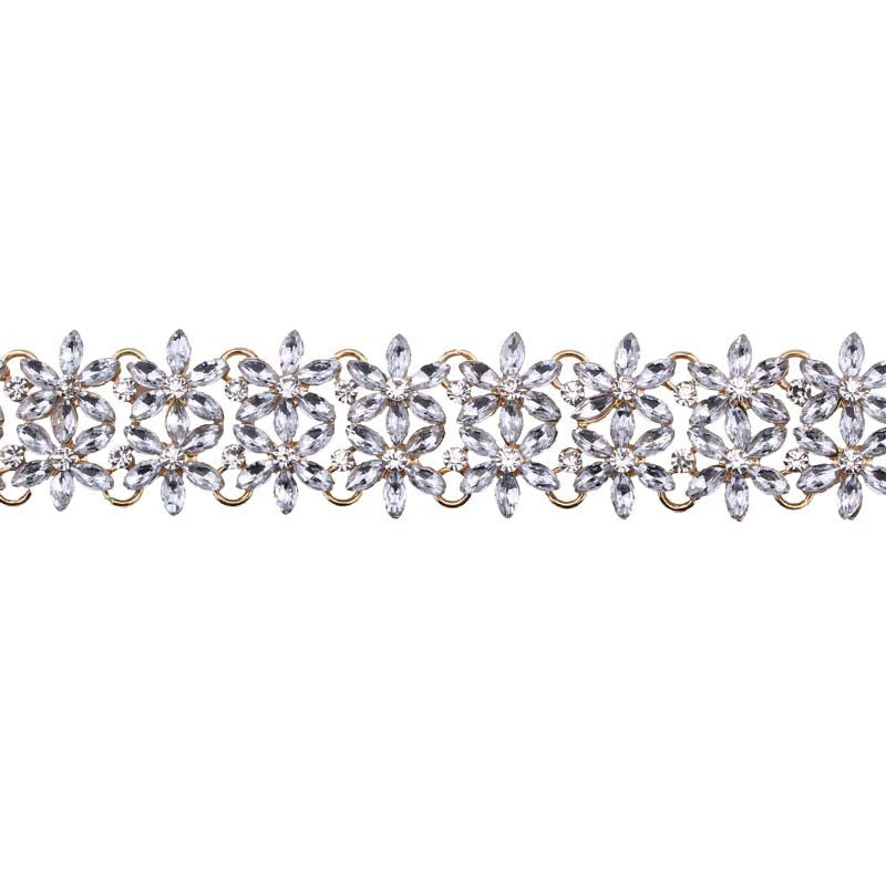 KINGS RD SILVER DIAMANTE CHOKER
