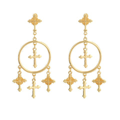 ST GEORGES GOLD EARRINGS