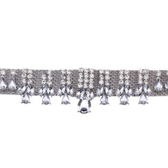 BANK SILVER DIAMANTE CHOKER