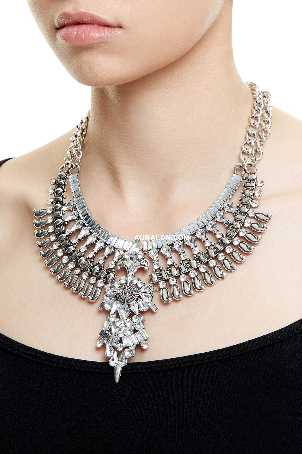 HARROW  STATEMENT NECKLACE - SILVER