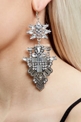 KNIGHTSBRIDGE STATEMENT EARRINGS - SILVER