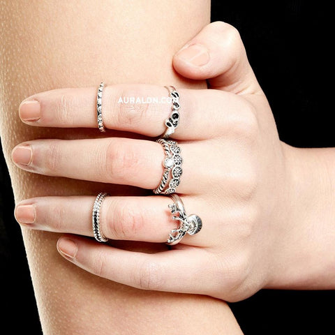 MADDOX MIDI RING SET - SILVER