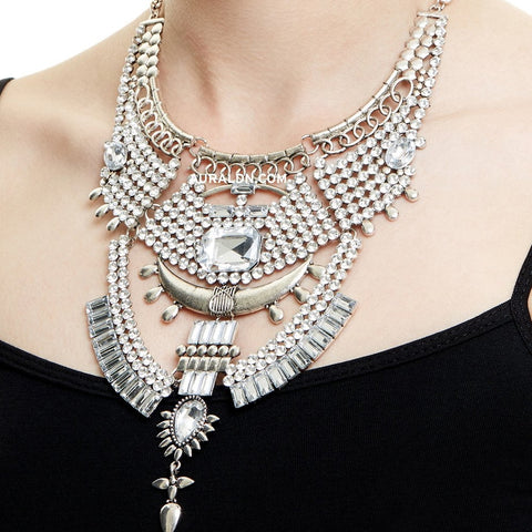 MARYLEBONE STATEMENT NECKLACE - SILVER