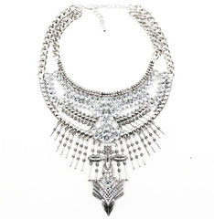 Portobello Silver Statement Necklace | AURA