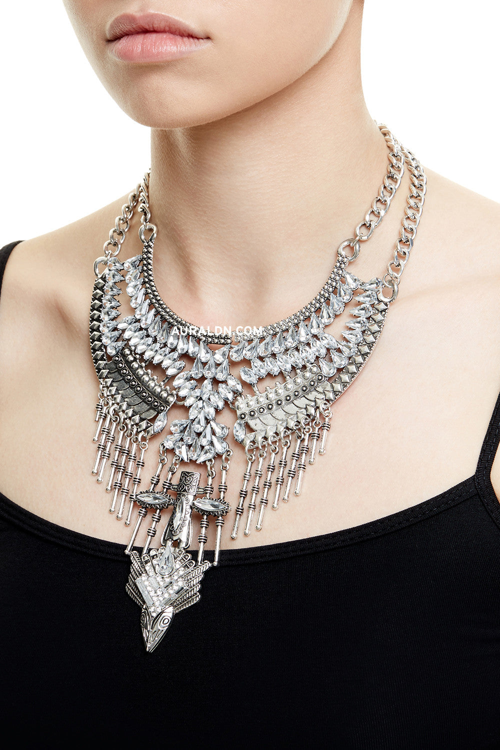 PORTOBELLO STATEMENT NECKLACE - SILVER