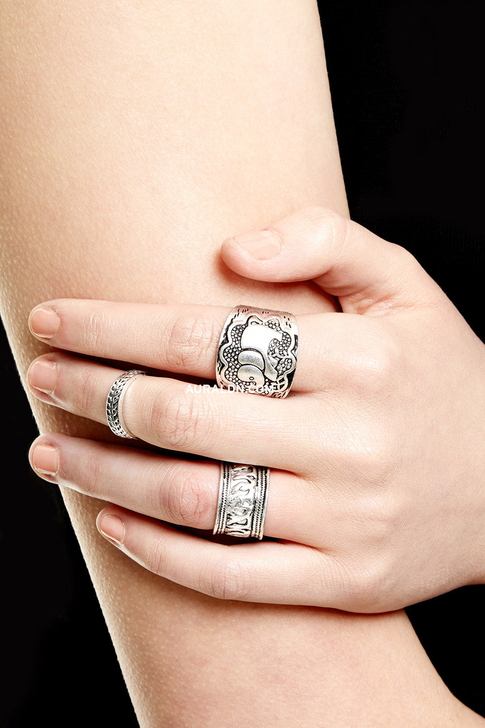 PRIMROSE HILL MIDI RING SET - SILVER