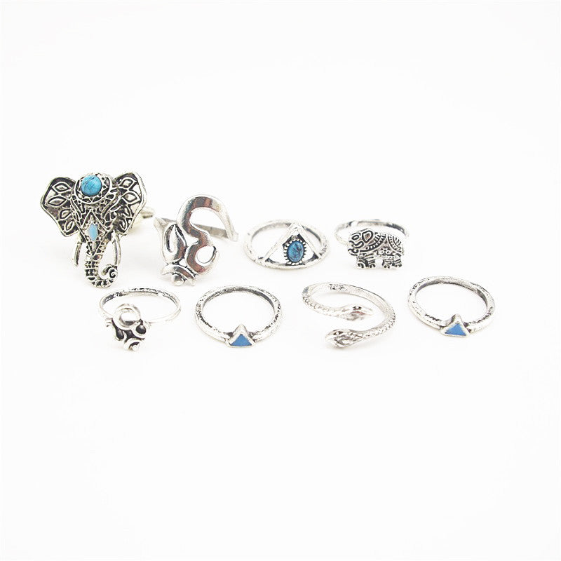 Mayfair silver midi ring set | AURA