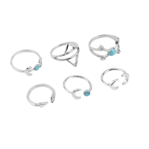 Park ave midi ring set silver | AURA
