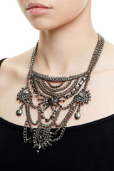 REGENTS PARK STATEMENT NECKLACE - GUNMETAL