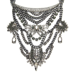 Regents Park Gunmetal Statement Necklace | AURA