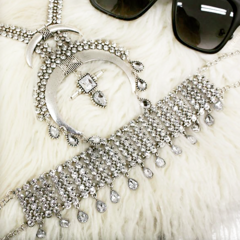 SHOREDITCH SILVER DIAMANTE CHOKER