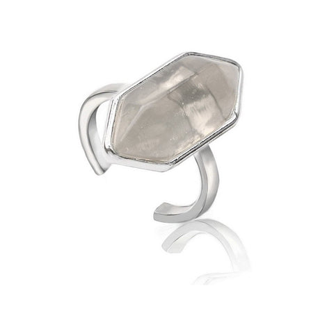 Oxford st crystal ring silver | AURA