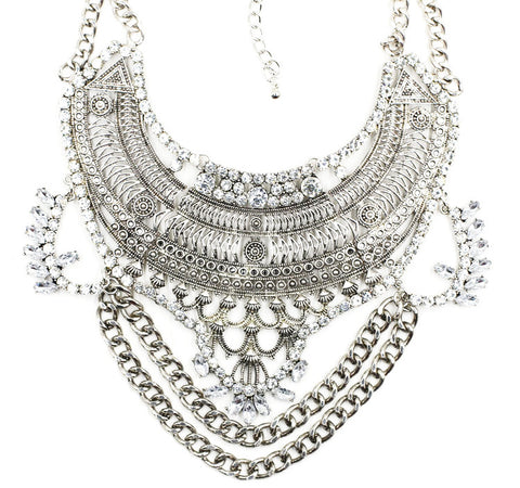 Knightsbridge silver statement necklace | AURA
