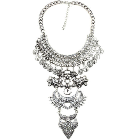 shoreditch statement necklace silver | AURA