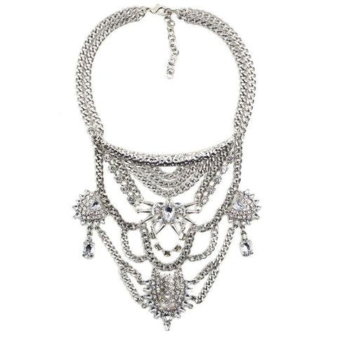 Regents Park Silver Statement Necklace | AURA