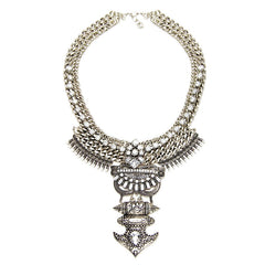 Dalston Silver Statement Necklace | AURA